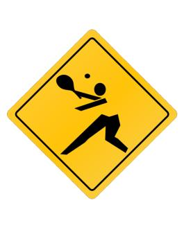 Pickleball Crossing Sign