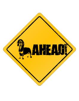 """  Dachshund - AHEAD !  "" Crossing Sign"