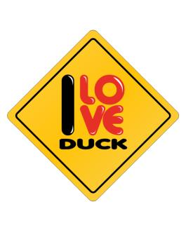 Crossing Sign de I love Duck glossy sign