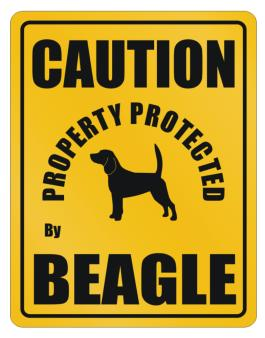 New Protected By Beagle Parking Sign Parking Sign