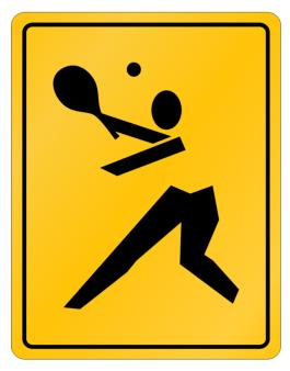 """ Pickleball SIGN SIMPLE "" Parking Sign"