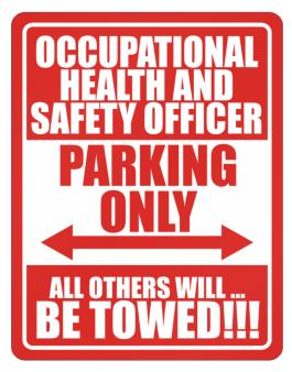 Occupational Medicine Specialist Parking Only - All Others Will Be Towed Parking Sign