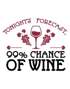 Tonights forecast 99% chance of wine Parking Sign