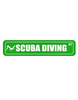 Scuba Diving Street  Stickman Street Sign