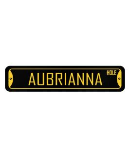 Aubrianna hole women names Street Sign