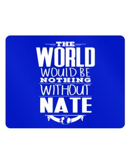 The world would be nothing without Nate Parking Sign - Horizontal