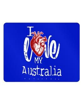 I love my Australia hearts Parking Sign - Horizontal