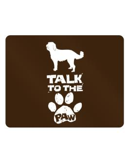 Talk To The Paw Labradoodle Parking Sign - Horizontal