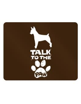 Talk To The Paw Rat Terrier Parking Sign - Horizontal