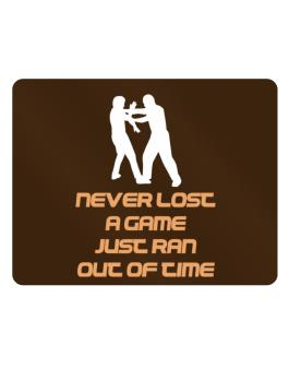 """ Krav Maga NEVER LOST A GAME JUST RAN OUT OF TIME "" Parking Sign - Horizontal"