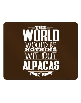 The world would be nothing without Alpacas Parking Sign - Horizontal