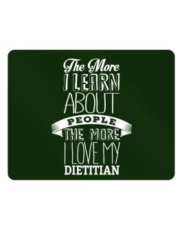 The more I learn about People the more I love my Dietitian Parking Sign - Horizontal