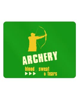 Archery ... Blood , Sweat & Tears Parking Sign - Horizontal