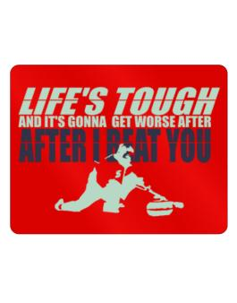 Life Tough Curling Parking Sign - Horizontal