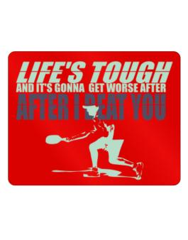 """  LIFE TOUGH Pickleball "" Parking Sign - Horizontal"