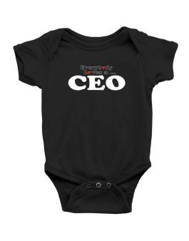 Everybody Loves A Ceo Baby Bodysuit