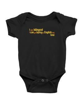 I Am Bilingual, I Can Get Horny In English And Gondi Baby Bodysuit