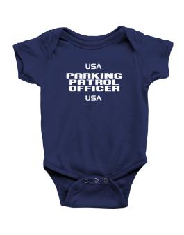 Usa Parking Patrol Officer Usa Baby Bodysuit