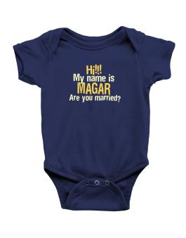 Hi My Name Is Magar Are You Married? Baby Bodysuit