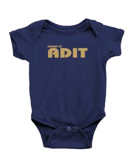 Property Of Adit Baby Bodysuit