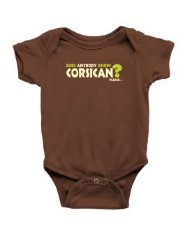 Does Anybody Know Corsican? Please... Baby Bodysuit