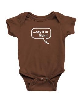 Say It In Mehri Baby Bodysuit