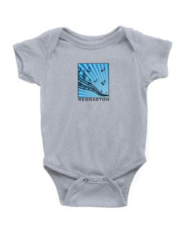 Reggaeton - Musical Notes Baby Bodysuit