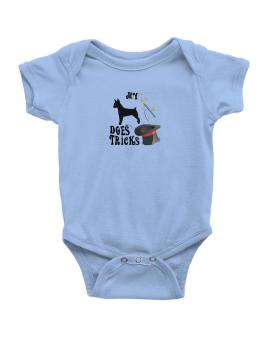 My Rat Terrier Does Tricks ! Baby Bodysuit