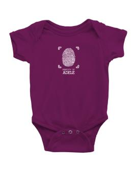 Property of Adele fingerprint 2 Baby Bodysuit