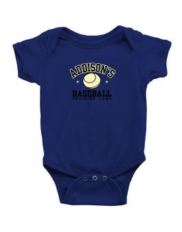 Addisons Baseball Training Camp Baby Bodysuit