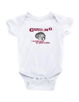 Curling Is An Extension Of My Creative Mind Baby Bodysuit