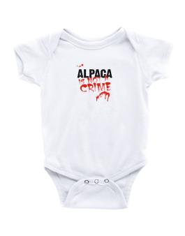 Being A ... Alpaca Is Not A Crime Baby Bodysuit