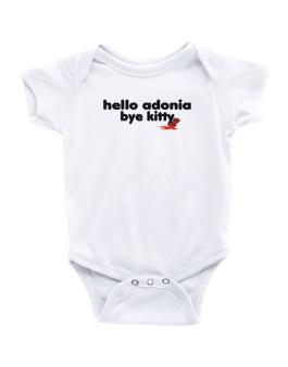 Hello Adonia Bye Kitty Baby Bodysuit