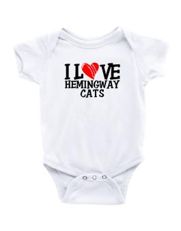 I Love Hemingway Cats - Scratched Heart Baby Bodysuit
