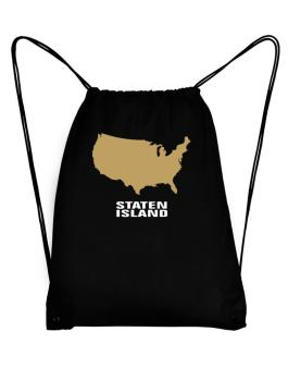 Staten Island - Usa Map Sport Bag