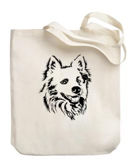 American Eskimo Dog Face Special Graphic Canvas Tote Bag
