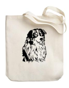 Australian Shepherd Face Special Graphic Canvas Tote Bag