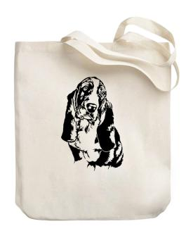Basset Hound Face Special Graphic Canvas Tote Bag