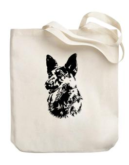 German Shepherd Face Special Graphic Canvas Tote Bag