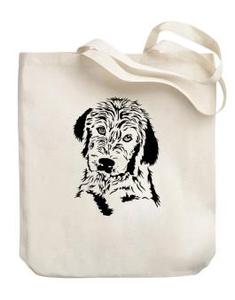 Labradoodle Face Special Graphic Canvas Tote Bag