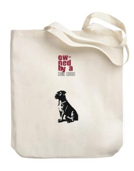 Owned By A Cane Corso Canvas Tote Bag