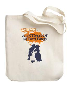 Owned By An Australian Shepherd Canvas Tote Bag