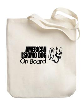 American Eskimo Dog On Board Canvas Tote Bag