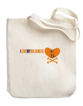 I Love My Bolognese - Bones Canvas Tote Bag