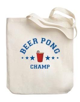 Beer Pong Champ Canvas Tote Bag