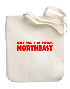 Kiss me im from Northeast Canvas Tote Bag