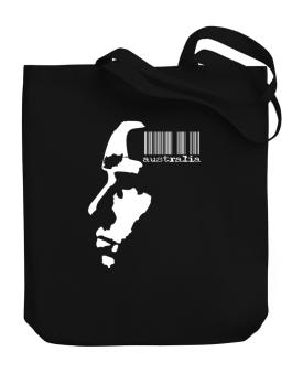 Australia - Barcode With Face Canvas Tote Bag