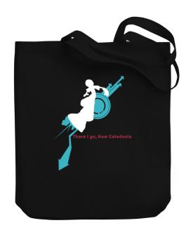 There I Go, New Caledonia Canvas Tote Bag