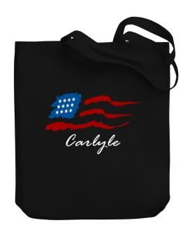 Carlyle - Us Flag Canvas Tote Bag