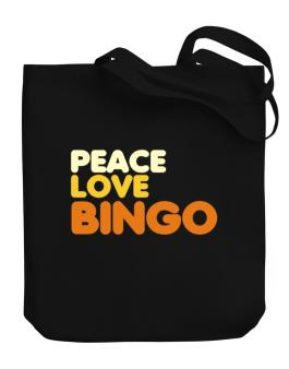 Peace Love Bingo Canvas Tote Bag